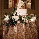 Sequined cake table cloth @elloirevents