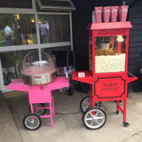 candy floss and popcorn machine package hire @elloirevents