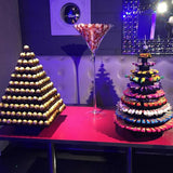 chocolate martini glasses available for hire @elloirevents
