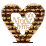 Mr & Mrs Ferrero Rocher wedding stands available for hire @elloirevents