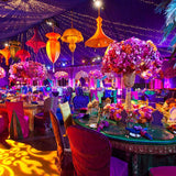Luxury colourful Moroccan themed party event decorators @elloirevents