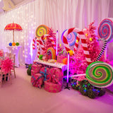 magical christmas candyland themed decoration hire @elloirevents