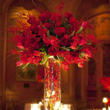 winter red rose bouquet table decorations @elloirevents