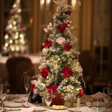 mini christmas tree table decorations @elloirevents
