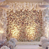 luxury white floral walls west midlands @elloirevents