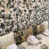 neutral coloured flower walls @elloirevents