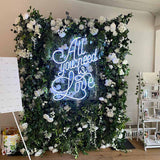 LED summer spring flower walls @elloirevents
