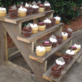 wooden cupcake step stand available for events hire @elloirevents