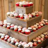 tiered boxed cupcake stands hire @elloirevents