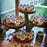 rustic wooden tree stands caterers uk @elloirevents