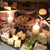 Cheese tables tea lights @elloirevents