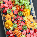 fruit board platter with dippings hire @elloirevents