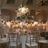 ivory and greenery floral table centrepieces for weddings @elloirevents