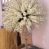 blossom floral ball tree decorations with dangling diamonds @elloirevents