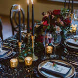 black wedding and party decorations @elloirevents
