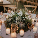 rustic wreath halo table centrepieces for weddings @elloirevents