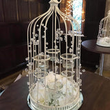 white bird cage table centrepieces  @elloirevents