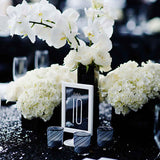 Black and white wedding decorations  @elloirevents