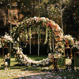 floral archway dripping with diamonds wedding ceremonies @elloirevents