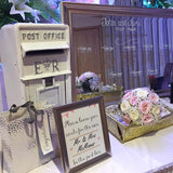 Postbox and mirrored seating plan @elloirevents