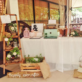 rustic fresh gift table for weddings hire @elloirevents