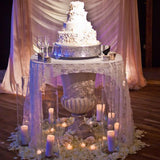 luxury tea lighted cake stands @elloirevents