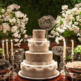 ivory traditional wedding cake stands @elloirevents
