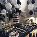 black and white sweetie tables party hire @elloirevents