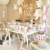 baby shower food and sweetie tables @elloirevents