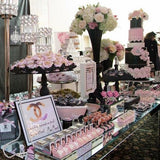 luxury pink and white sweetie table @elloirevents