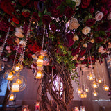 dangling tea lights @elloirevents