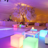 neon cubes seating for events hire @elloirevents