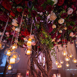 floral halo tree table centrepieces decorations @elloirevents