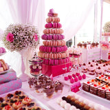 Pink themed food/sweetie table for events hire and decorators @Elloirevents