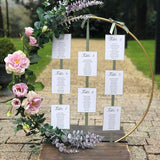 floral rustic hoop table seating chart @elloirevents