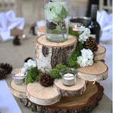 rustic wood table centrepieces @elloirevents