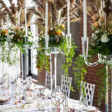 Tall crystal candelabras @elloirevents