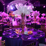 ostrich feather centrepieces @elloirevents
