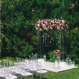 Acrylic outdoor wedding ceremony arch @elloirevents