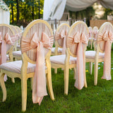 Pink Bow Chair Covers @elloirevents