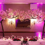 Pink large blossom trees for weddings @elloirevents
