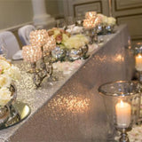 sparkley blingy top table decorations @elloirevents