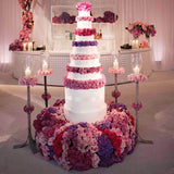 Pink Flowers Cake & Cake Table  @elloirevents