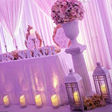 Lanterns filled with candles, head table wedding decorations @elloirevents