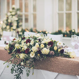 large bouquet top table wedding centrepieces @elloirevents
