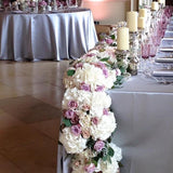 Floral leafy wreath top table wedding decorations/centrepieces @elloirevents