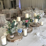 rusket wooden warm lighted table decorations @elloirevents