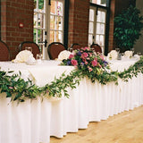 formal wedding top table decorations/centrepieces @elloirevents