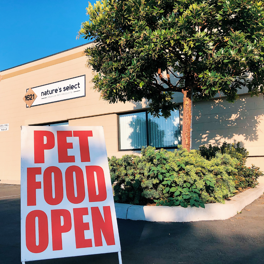 Pet Food Open Sign