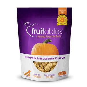 Pumpkin Blueberry Crunchy Dog Treats